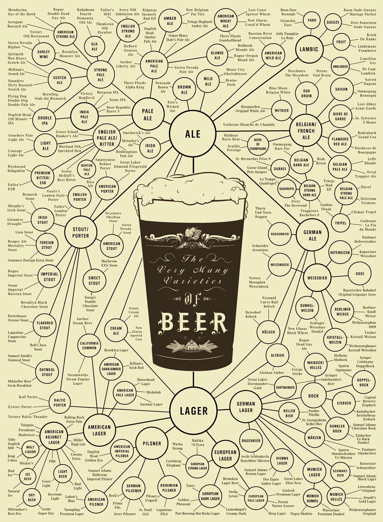 Taxonomía de la cerveza