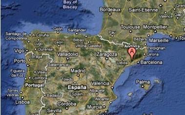 Localización mapa bodega DG Viticultors