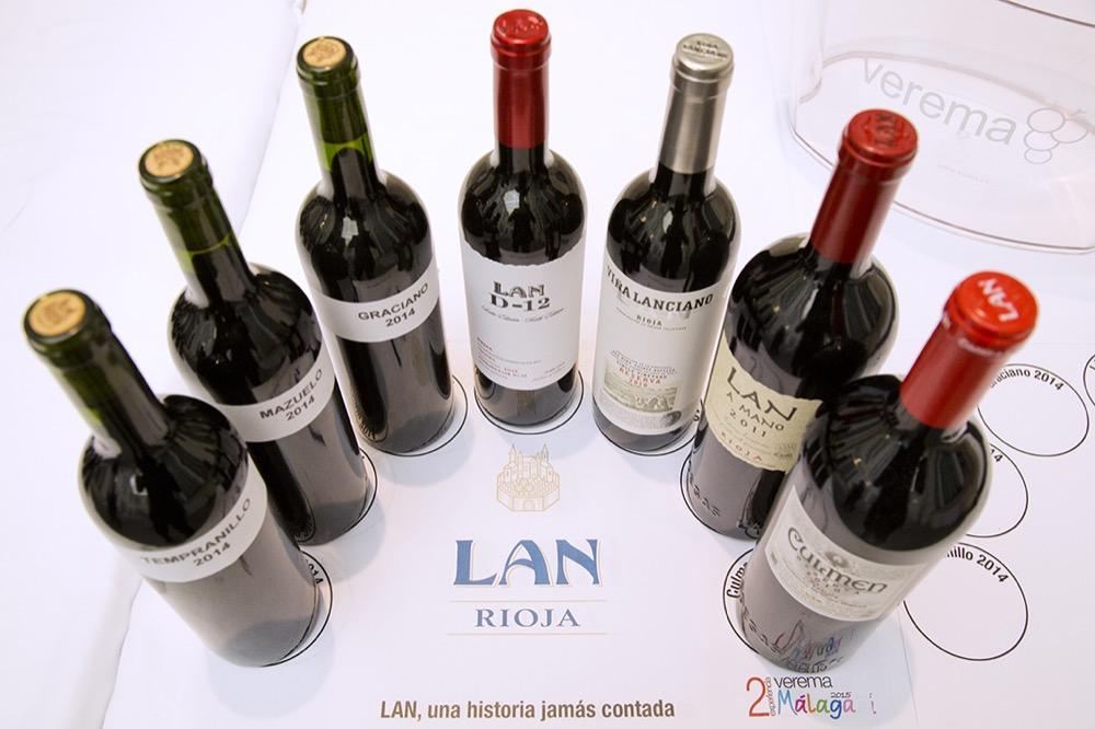 Botellas de la cata de Bodegas Lan en la II Edición Verema Málaga